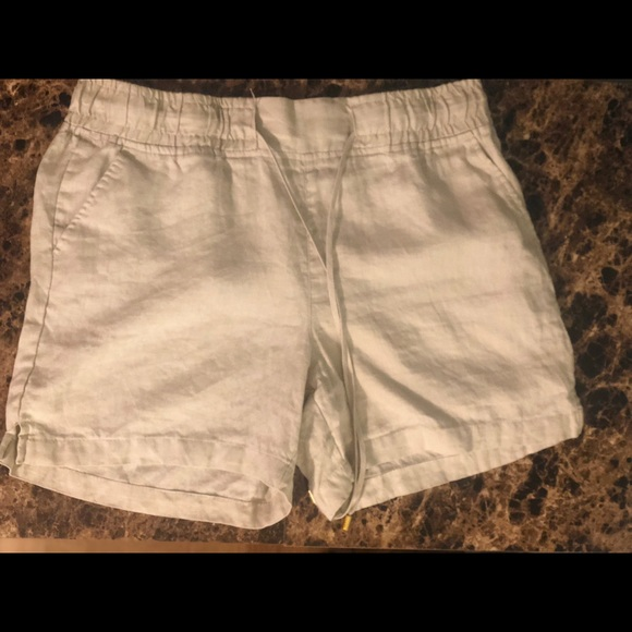 Ellen Tracy Pants - Company Ellen Tracy 100% Linen Khaki Shorts